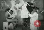 Image of German sculptor Germany, 1942, second 18 stock footage video 65675021787