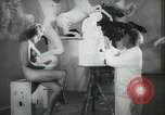 Image of German sculptor Germany, 1942, second 20 stock footage video 65675021787