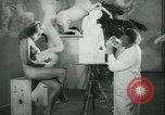 Image of German sculptor Germany, 1942, second 21 stock footage video 65675021787