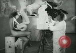 Image of German sculptor Germany, 1942, second 22 stock footage video 65675021787