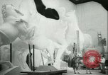 Image of German sculptor Germany, 1942, second 48 stock footage video 65675021787