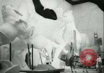 Image of German sculptor Germany, 1942, second 50 stock footage video 65675021787