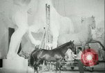 Image of German sculptor Germany, 1942, second 51 stock footage video 65675021787