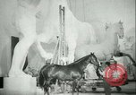 Image of German sculptor Germany, 1942, second 55 stock footage video 65675021787
