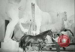Image of German sculptor Germany, 1942, second 57 stock footage video 65675021787