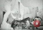 Image of German sculptor Germany, 1942, second 58 stock footage video 65675021787
