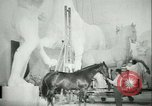 Image of German sculptor Germany, 1942, second 59 stock footage video 65675021787