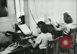 Image of German girls train for communications work in Athens Athens Greece, 1942, second 33 stock footage video 65675021788