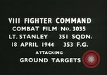 Image of VIII Fighter Command Germany, 1944, second 3 stock footage video 65675021821
