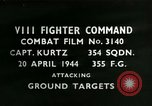 Image of VIII Fighter Command Germany, 1944, second 1 stock footage video 65675021825