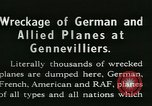 Image of Aircraft graveyard Paris France, 1945, second 13 stock footage video 65675021883