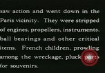 Image of Aircraft graveyard Paris France, 1945, second 32 stock footage video 65675021883