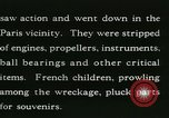 Image of Aircraft graveyard Paris France, 1945, second 33 stock footage video 65675021883