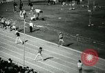 Image of Jim Ryun breaking world record mile Bakersfield California USA, 1967, second 9 stock footage video 65675021956