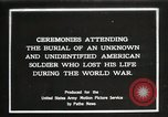 Image of first American Unknown Soldier selected in france France, 1921, second 1 stock footage video 65675021986