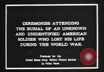 Image of first American Unknown Soldier selected in france France, 1921, second 2 stock footage video 65675021986