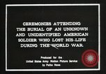 Image of first American Unknown Soldier selected in france France, 1921, second 3 stock footage video 65675021986
