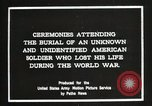 Image of first American Unknown Soldier selected in france France, 1921, second 4 stock footage video 65675021986