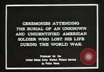 Image of first American Unknown Soldier selected in france France, 1921, second 5 stock footage video 65675021986