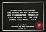 Image of first American Unknown Soldier selected in france France, 1921, second 6 stock footage video 65675021986