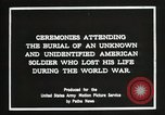Image of first American Unknown Soldier selected in france France, 1921, second 9 stock footage video 65675021986