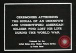 Image of first American Unknown Soldier selected in france France, 1921, second 14 stock footage video 65675021986