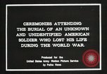 Image of first American Unknown Soldier selected in france France, 1921, second 16 stock footage video 65675021986