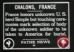 Image of first American Unknown Soldier selected in france France, 1921, second 42 stock footage video 65675021986