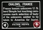Image of first American Unknown Soldier selected in france France, 1921, second 45 stock footage video 65675021986