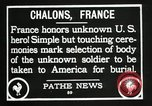 Image of first American Unknown Soldier selected in france France, 1921, second 46 stock footage video 65675021986