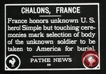 Image of first American Unknown Soldier selected in france France, 1921, second 48 stock footage video 65675021986