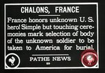 Image of first American Unknown Soldier selected in france France, 1921, second 49 stock footage video 65675021986