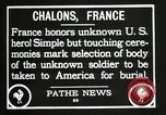Image of first American Unknown Soldier selected in france France, 1921, second 52 stock footage video 65675021986
