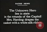 Image of World War I American Unknown soldier lying in state Washington DC USA, 1921, second 4 stock footage video 65675021988