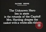 Image of World War I American Unknown soldier lying in state Washington DC USA, 1921, second 6 stock footage video 65675021988