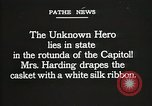 Image of World War I American Unknown soldier lying in state Washington DC USA, 1921, second 7 stock footage video 65675021988