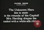 Image of World War I American Unknown soldier lying in state Washington DC USA, 1921, second 8 stock footage video 65675021988