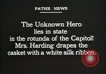 Image of World War I American Unknown soldier lying in state Washington DC USA, 1921, second 12 stock footage video 65675021988