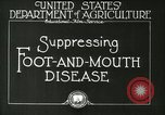 Image of foot and mouth disease United States USA, 1925, second 20 stock footage video 65675022110