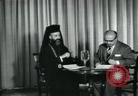 Image of Archbishop Makarios and John Harding Nicosia Cyprus, 1955, second 4 stock footage video 65675022144