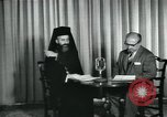 Image of Archbishop Makarios and John Harding Nicosia Cyprus, 1955, second 6 stock footage video 65675022144