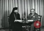 Image of Archbishop Makarios and John Harding Nicosia Cyprus, 1955, second 9 stock footage video 65675022144