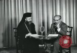 Image of Archbishop Makarios and John Harding Nicosia Cyprus, 1955, second 10 stock footage video 65675022144