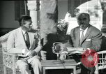 Image of Archbishop Makarios and John Harding Nicosia Cyprus, 1955, second 41 stock footage video 65675022144