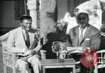 Image of Archbishop Makarios and John Harding Nicosia Cyprus, 1955, second 42 stock footage video 65675022144