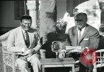 Image of Archbishop Makarios and John Harding Nicosia Cyprus, 1955, second 43 stock footage video 65675022144