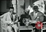 Image of Archbishop Makarios and John Harding Nicosia Cyprus, 1955, second 44 stock footage video 65675022144
