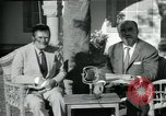 Image of Archbishop Makarios and John Harding Nicosia Cyprus, 1955, second 45 stock footage video 65675022144