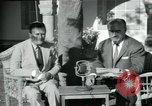 Image of Archbishop Makarios and John Harding Nicosia Cyprus, 1955, second 46 stock footage video 65675022144