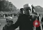 Image of Jawaharlal Nehru at Republic Day parade New Delhi India, 1950, second 9 stock footage video 65675022163